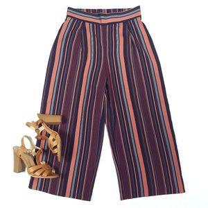 Cynthia Rowley Striped Gaucho Crop Pants